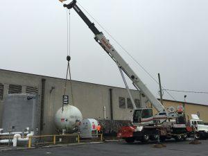 hohenshilt crane lifting propane ball