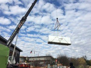 Hohenshilt Crane moving white box