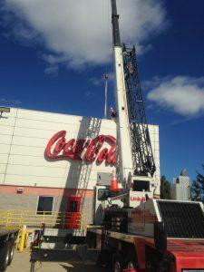 hohenshilt crane at Coca Cola