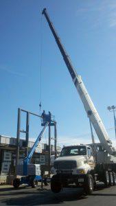 hohenshilt crane with metal piece